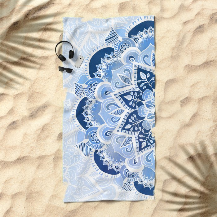 Lacy Blues Beach Towel