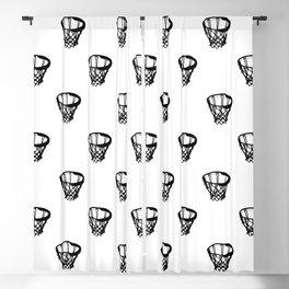 Basketball Motif Print Pattern Blackout Curtain