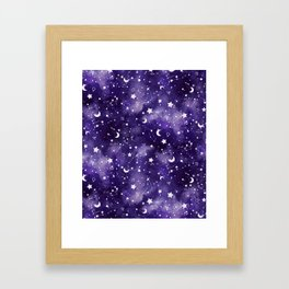 Zodiac Watercolor Ultraviolet Framed Art Print