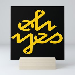 Oh Yes Awesome Typography Mini Art Print