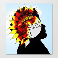 Walking With The Sun Canvas Print