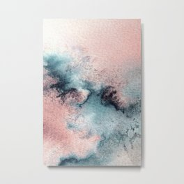 Pink and Blue Oasis Metal Print
