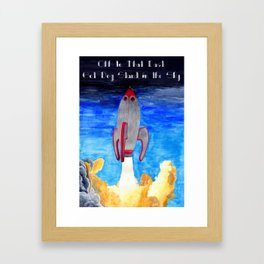 Off to That Last Hot Dog Stand in the Sky Framed Art Print