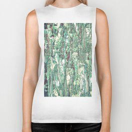 Abstract green Biker Tank