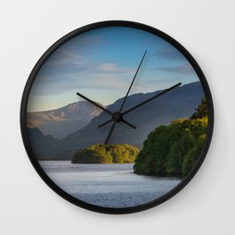 Lake Derwentwater in the Lake District, England Wall Clock