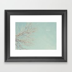 Bare Tree Framed Art Print