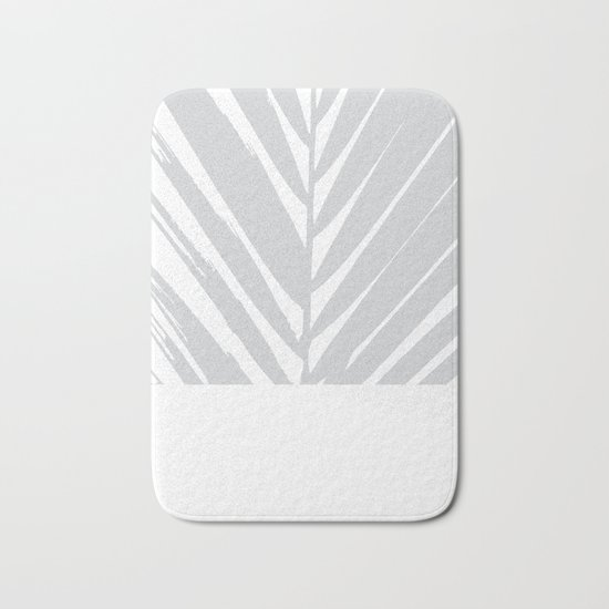 Grey #Palm Bath Mat