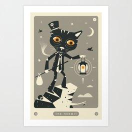 TAROT CARD CAT: THE HERMIT Art Print