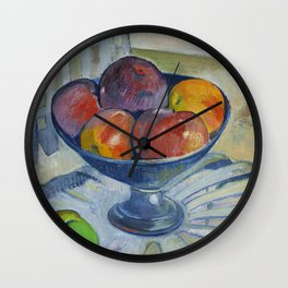 Fruit Dish on a Garden Chair (ca 1890) by Paul Gauguin Wall Clock