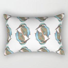 Kingfishers Pattern Rectangular Pillow
