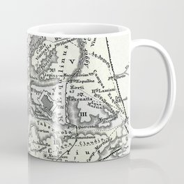 Vintage Map of Rome Italy (1862) Coffee Mug