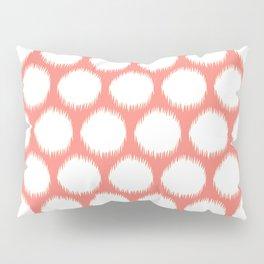 Salmon Asian Moods Ikat Dots Pillow Sham