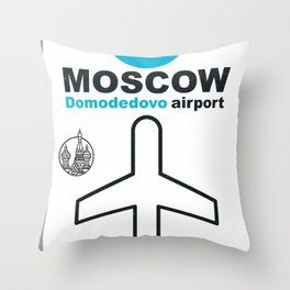 DME  Domodedovo airport code Throw Pillow