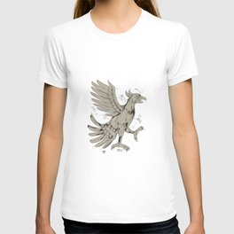 Cuauhtli Glifo Eagle Symbol Low Polygon T-shirt