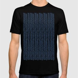 Knit Wave Navy T-shirt
