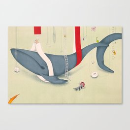 A whale has landed Canvas Print