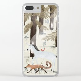 the fox and unicorn Clear iPhone Case