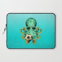 Cute Baby Octopus With Football Soccer Ball Laptop Sleeve