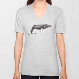 Humpback whale Megaptera Unisex V-Neck