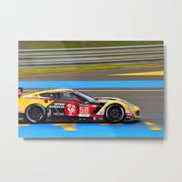 C7-Z06 Sports Motor Car 24 Hours of Le Mans 2016 Metal Print