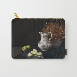 Green apples and china still life Carry-All Pouch