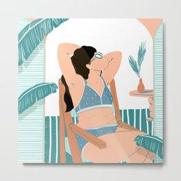 Sunbathing 2020 Metal Print