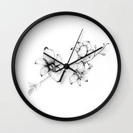 Orchidaceae Wall Clock