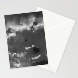 Plane and storm Stationery Cards