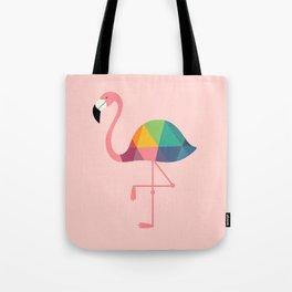 Rainbow Flamingo Tote Bag