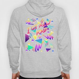 Vintage Retro Throwback 80's Party Totally rad Arcade Pattern Hoody