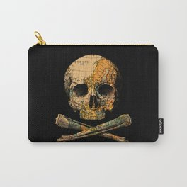 Treasure Map Skull Wanderlust Europe Carry-All Pouch
