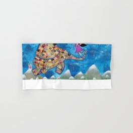 Missy and Elephant fly to the moon Hand & Bath Towel
