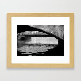 Black and White Study of Lines and Shapes Framed Art Print