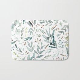 Eucalyptus pattern Badematte