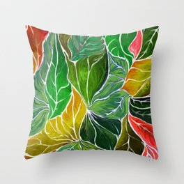 Dancing leaves Throw Pillow
