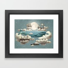 Ocean Meets Sky - colour option Framed Art Print