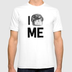 I Love Me SMALL White Mens Fitted Tee