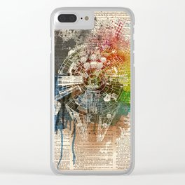 Millennium Falcon - on dictionary page Clear iPhone Case