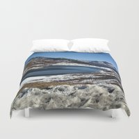 the mountains are calling Duvet Covers featuring Mountains are calling by Adeela Abdul Razak