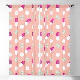 Pixel pills pattern Blackout Curtain