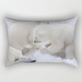 polar bear cub Rectangular Pillow