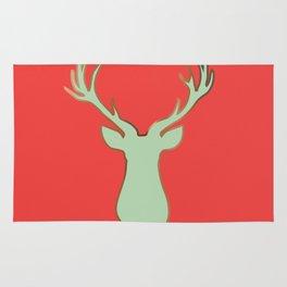 Stag Design Red Rug