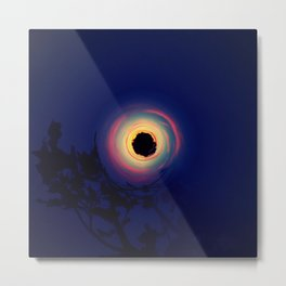 SUN, TREE, AND CITY WHIRL Metal Print