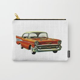 Vintage 1957 Red Bel Air Sport Sedan Carry-All Pouch