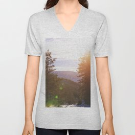 Evening in the Forest Unisex V-Neck
