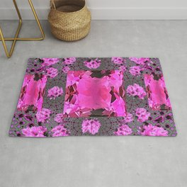 Rose Pink Rubies Gemstone July Birthstone Art Rug