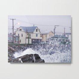 Exploding Sea Spray Metal Print