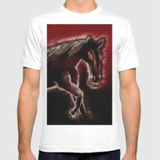 Phantom horse MEDIUM Mens Fitted Tee White