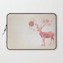 Flower deer Laptop Sleeve