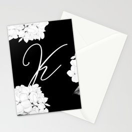 "Letter ""K"" Monogram Stationery Cards"